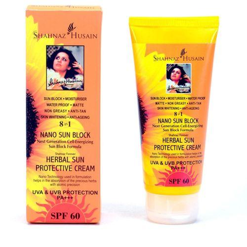 Shahnaz Husain Nano Sun Block - SPF 60 PA+++(100 g)