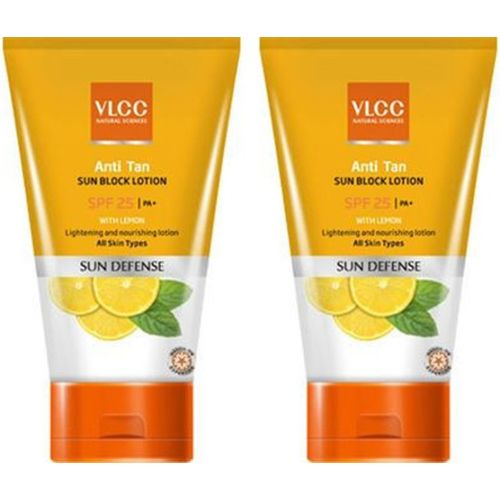 VLCC anti tan sun block lotion SPF 25 Pack Of 2 - SPF 25 PA+(300 ml)