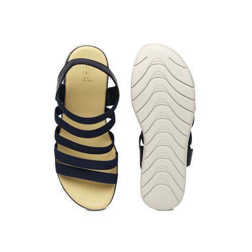 Tresmode Women Navy Blue Solid Sandals