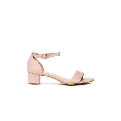 Tresmode Women Pink Solid Heels