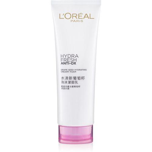 L'Oreal Paris Hydrafresh Anti-Ox Grape Seed Creamy Foam Face Wash(125 ml)