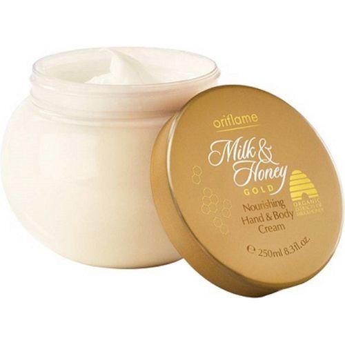 Oriflame Sweden Oriflame Milk & Honey Gold Nourishing Hand & Body Cream(250 ml)
