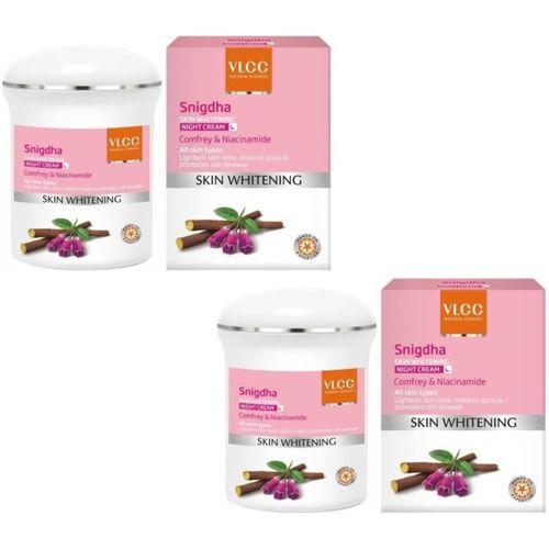 VLCC Snigdha Skin Whitening Night Cream (50 g)pack of 2(100 g)