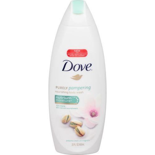Dove Purely Pampering Nutrium Moisture Body Wash Pistachio Cream & Mangolia 16.9 Oz Shower Gel(650)
