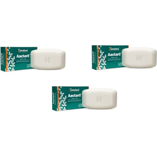 Himalaya Aactaril medicated cleansing soap(225 g, Pack of 3)