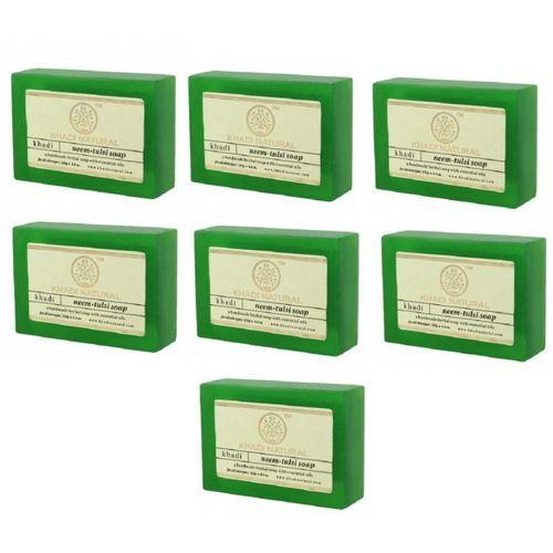 Khadi Natural Neem Tulsi Soap(875 g, Pack of 7)
