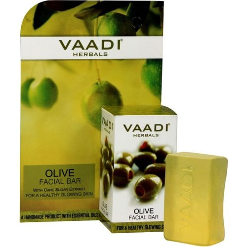 Vaadi Herbals Olive Facial Bars With Cane Sugar Extract (25 gms x 6)(25 g)