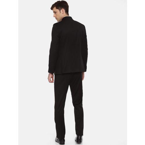 Raymond Men Black Solid Contemporary Fit Ethnic Bandgala Suit