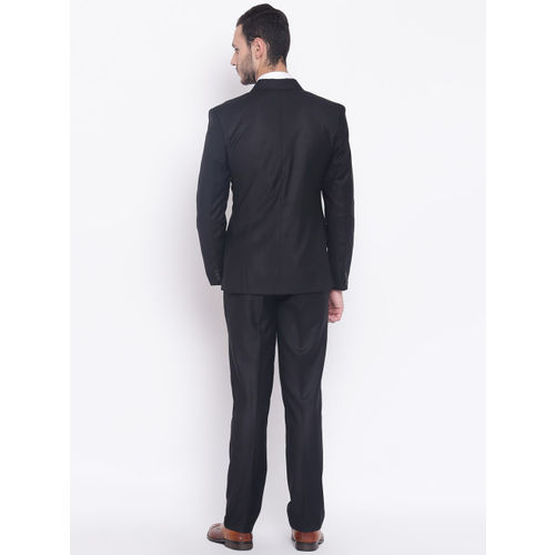 PLATINUM Studio Men Black Solid Single-Breasted Slim Fit Formal Suit