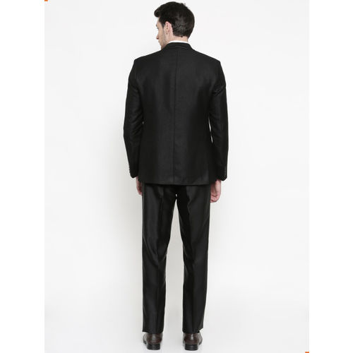 Raymond Men Black Single-Breasted Regular Fit Party Suit