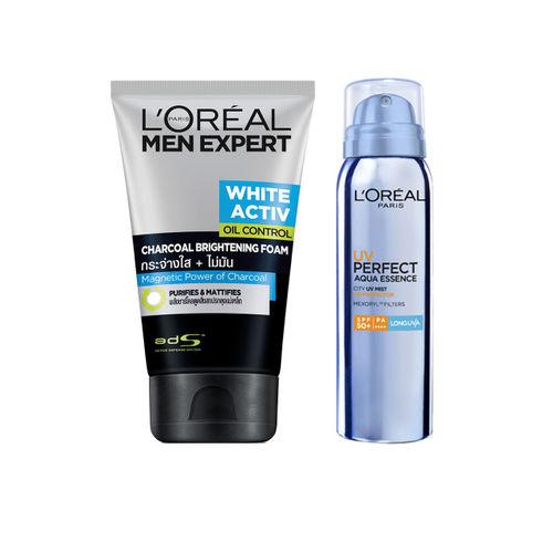 LOreal Paris Women Expert Anti-Spots & Oil Control Charcoal Foam & Sunscreen with SPF 50+