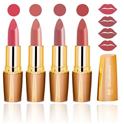 RythmX Exclusive Peach Hot Hot Moist Matte Lipsticks Combo (Pink, Peach Pink, Light Peach and Peach Shade)