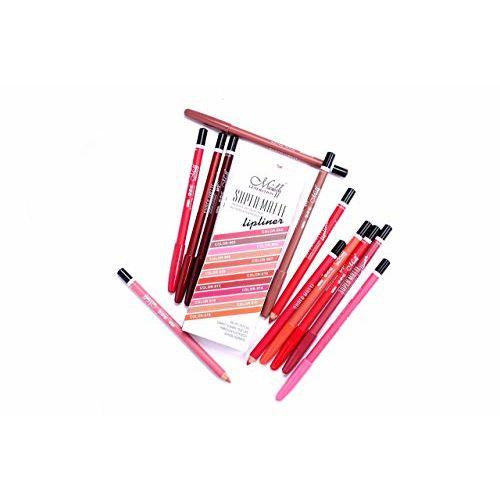 N&M Me Now Super Matte 12 Color Lip Liner Set