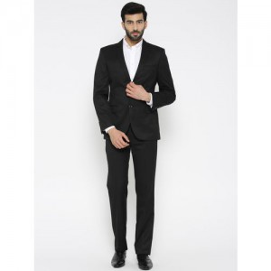 Arrow Men Black Single-Breasted Slim Fit Formal Suit