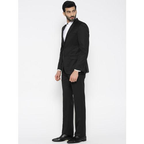 Arrow Men Black Single-Breasted Slim Fit Formal Suit