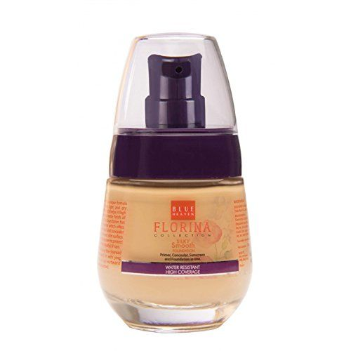 Blue Heaven Florina Silky Smooth Foundation, Saffron Glow, 30ml