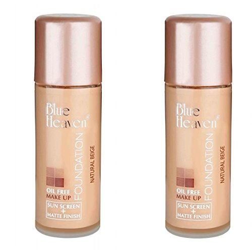 Blue Heaven Oil Free Foundation, Shade Natural, 30ml (Pack Of 2)