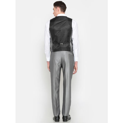 Peter England Grey Single Breasted Tailored Fit Party Suit