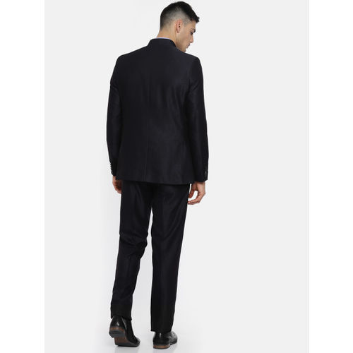 Raymond Men Navy Contemporary Fit Bandhgala Suit