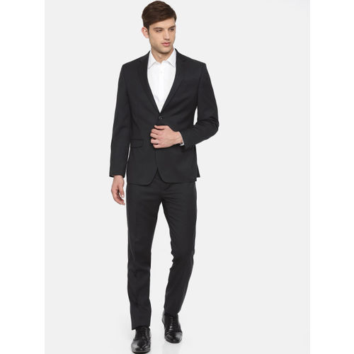 Raymond Men Charcoal Grey Solid Contemporary Fit Formal Suit