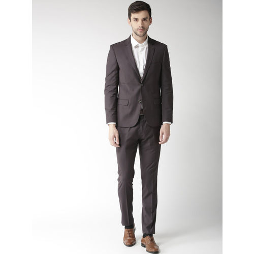 Arrow Men Charcoal Grey Single-Breasted Tailored Fit Formal Suit