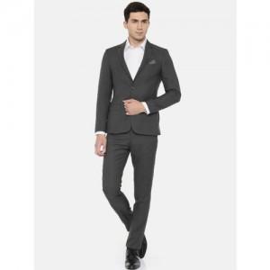 Arrow New York Charcoal Grey Zero Calorie Fit Formal Suit
