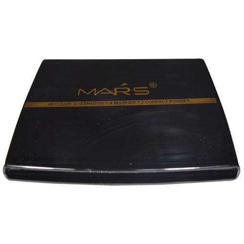 Mars 48 Color Eye shadow 4 + Blusher + 2 Compact Powder With Free LaPerla Kajal