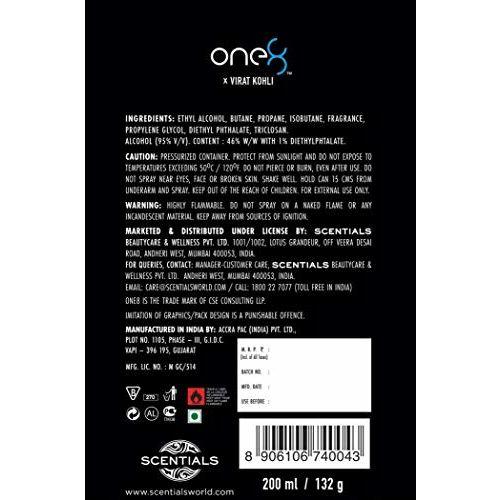 One 8 by Virat Kohli AQUA Perfume Body Spray For Men, 200 ml