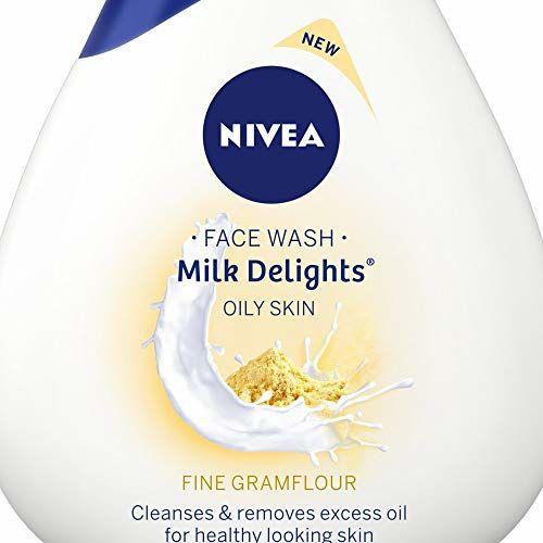 Nivea Milk Delights Face Wash Fine Gramflour for Oily Skin, 50ml