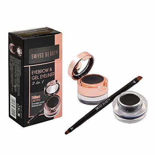 Swiss Beauty  Black 2In1 Gel Eyeliner