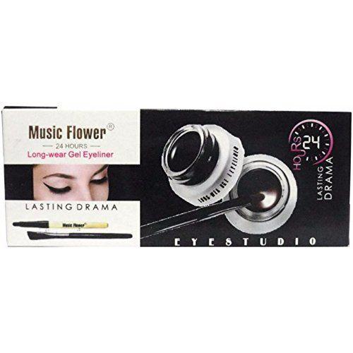 Music Flower Miteno Gel Eyeliner (6 g, Black)