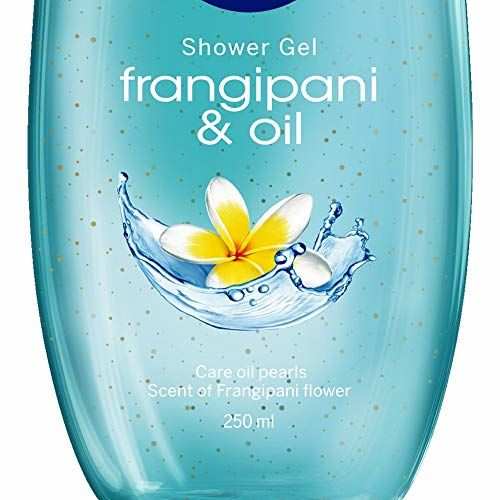 NIVEA Frangipani & Oil Shower Gel, 250ml with care oil pearls and frangipani scent