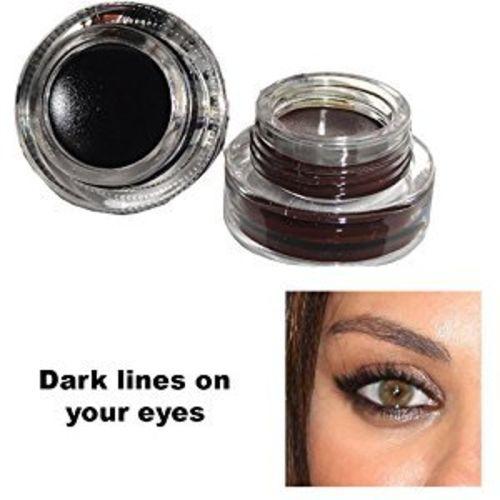 Clamy Long Lasting Gel Eyeliner, Black and Brown