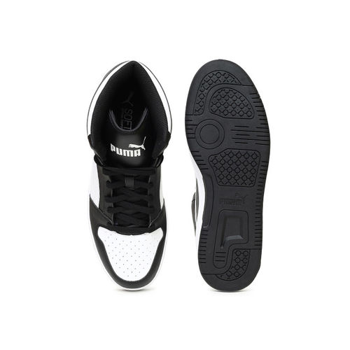 Puma Rebound Lay Up Black & White Ankle High Sneakers