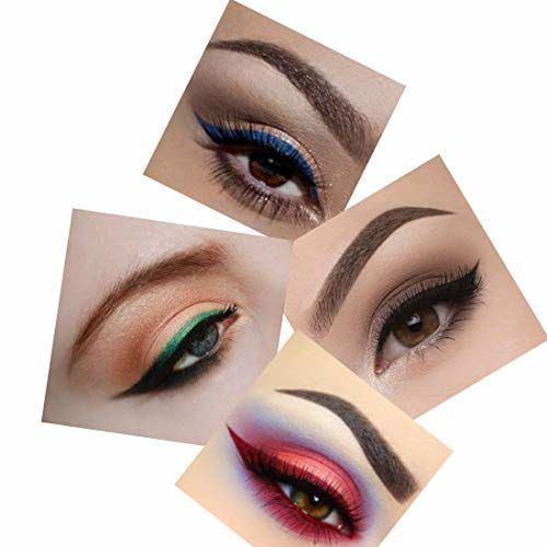 firstzon water proof Colored pen eyeliner combo (BLACK, BLUE, RED, GREEN,BROWN) 1.2 g (MULTICOLOR)