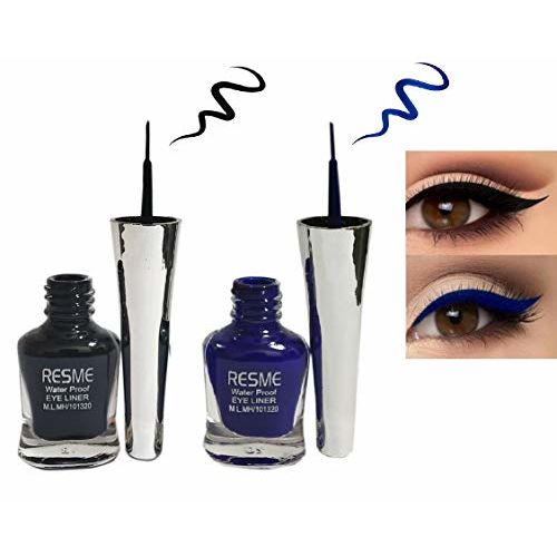 Resme Waterproof Eyeliner, Set of 2 (Black and Blue)