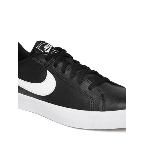 Nike Men Black COURT ROYALE AC Leather Sneakers