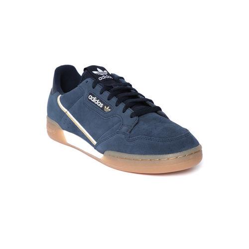 ADIDAS Originals Men Navy Continental 80 Suede Sneakers