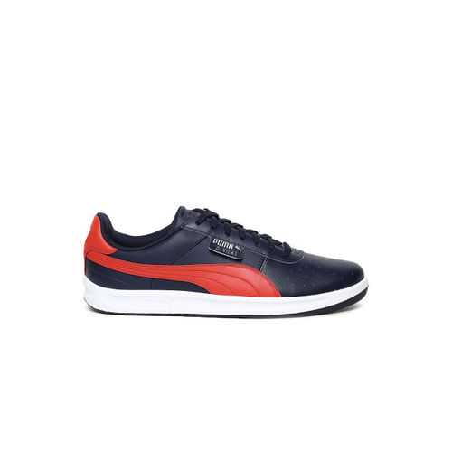 Puma G Vilas 2 Peacoat & High Risk Red Sneakers