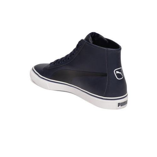 Puma Men Navy Blue Carve Mid SL IDP Sneakers