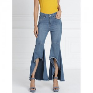 all about you Blue Flared Mid-Rise Clean Look Stretchable Jeans