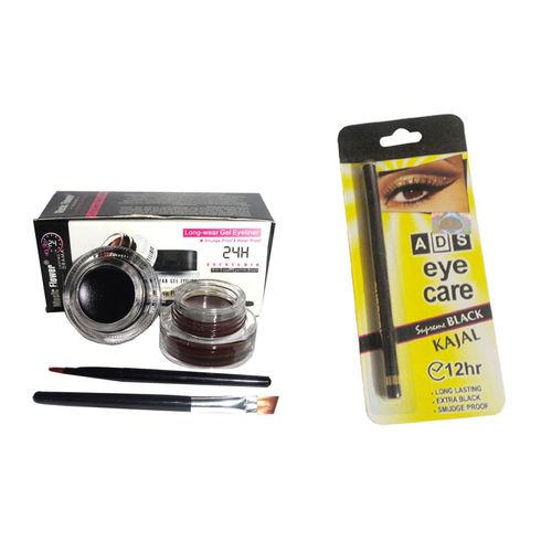 ADS Music Flower Long Lasting Gel Eyeliner / Eye Care Kajal