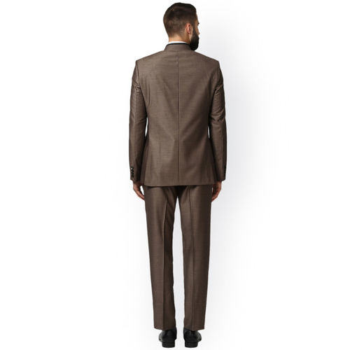 Raymond Men Brown Solid Single Breasted Suit