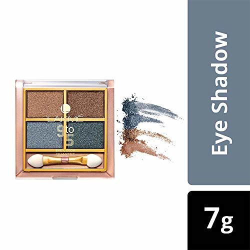 Lakmé Lakme 9 to 5 Eye Color Quartet Eye Shadow, Smokey Glam, 7 g
