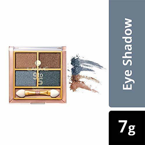 Lakmé Lakme 9 to 5 Eye Color Quartet Eye Shadow, Smokey Glam, 7 g