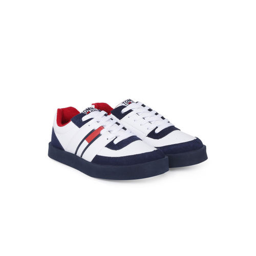 d3557d0ec Buy Tommy Hilfiger Men White   Navy Blue Sneakers online