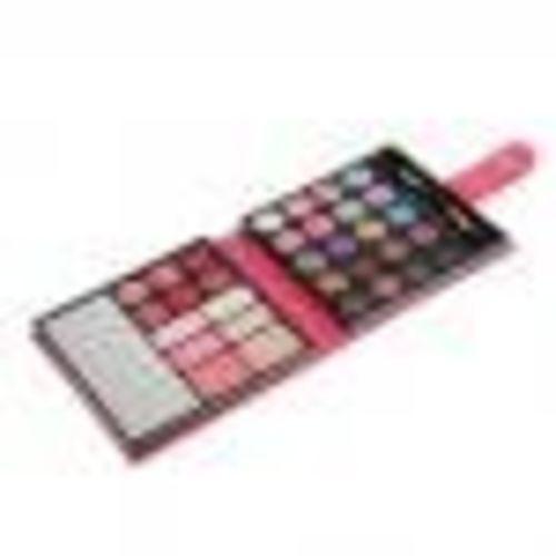 Segolike Pro 32 Colors Makeup Kit Shimmer Matte Eyeshadow Blush Lip Gloss Palette Face Eyebrow Powder Set Beauty Tool - rose red