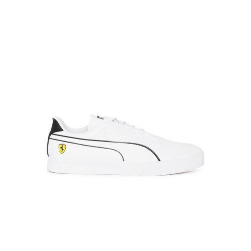 Puma Men White SF Vulc Track Sneakers