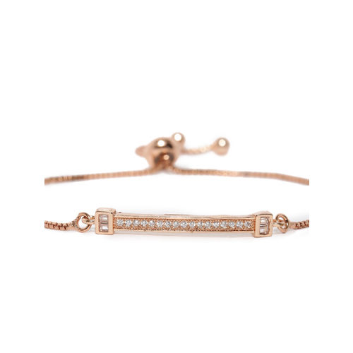 Rubans Rose Gold-Plated Metal Rose Gold-Plated Contemporary Bracelet