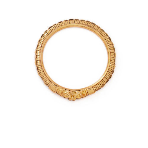Rubans Set Of 2 Antique Gold-Plated Engraved Bangles